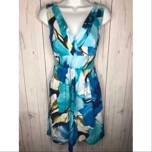 Corey P. Blue Floral Sleeveless Sun Dress
